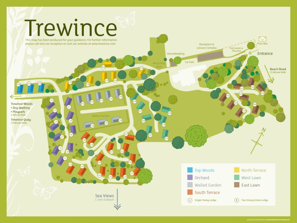 Trewince Lodge Map